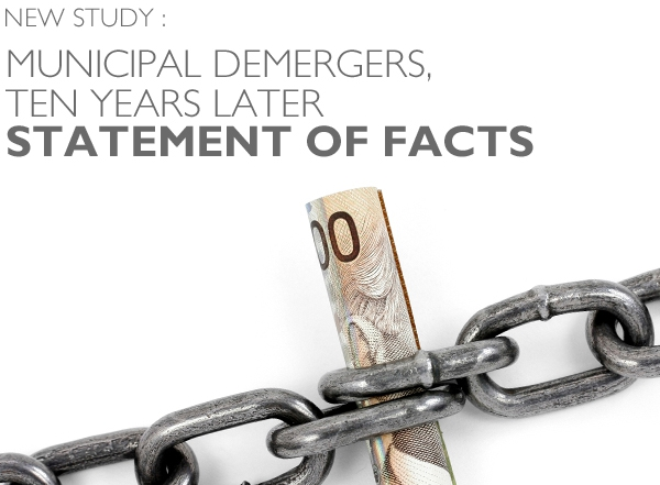 The municipal demergers, ten years later : Statement of facts