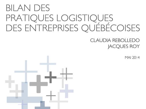 Bilan des pratiques logistiques des entreprises québécoises