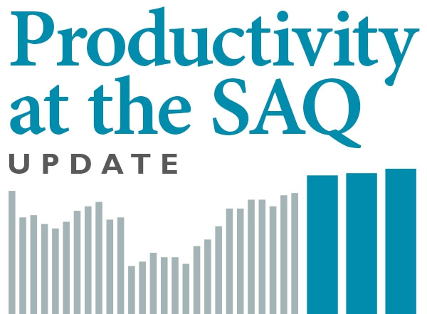 After stagnating for some 30 years, productivity at the SAQ finally increases !