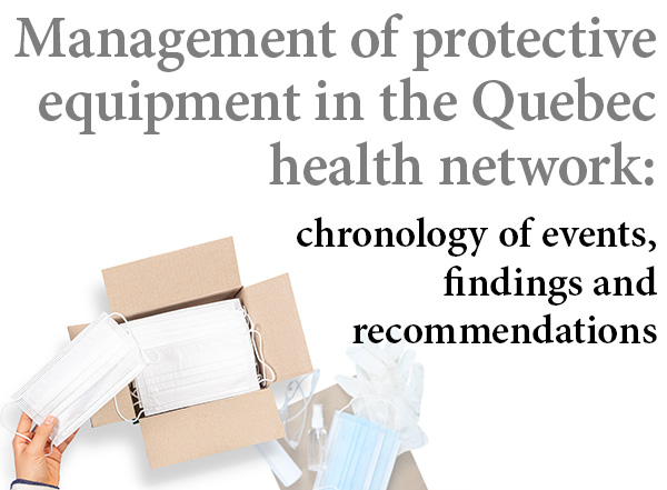 The logistics crisis in protective equipment : how could Quebec have done better ?
