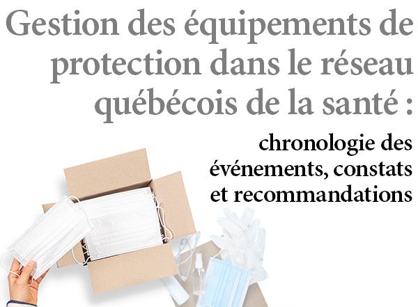 Crise logistique des équipements de protection : comment le Québec aurait-il pu faire mieux ?